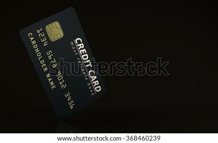 Credit card on dark background - stock photo
