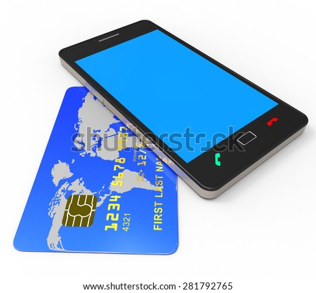 Credit Card Online Meaning Web Site And Buyer - stock photo