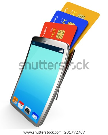 Credit Card Online Meaning World Wide Web And Website - stock photo