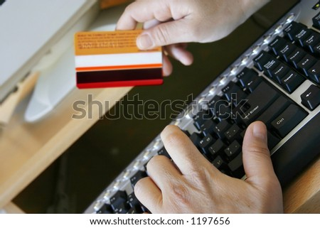 Credit card online payment - stock photo