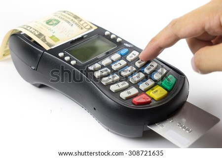 Credit card payment and dollar, buy and sell products & service