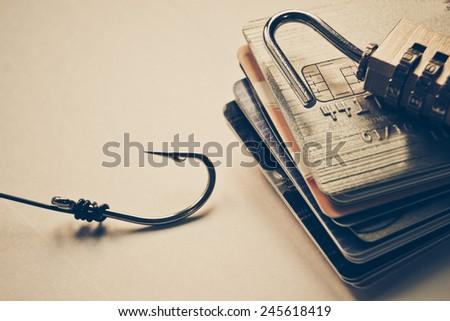 credit card phishing - stock photo