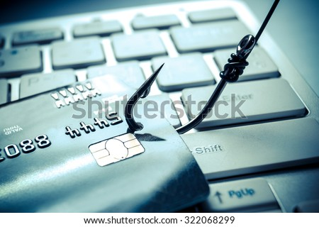 credit card phishing attack - stock photo