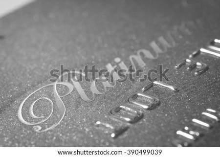 Credit Card Platinum background  - stock photo