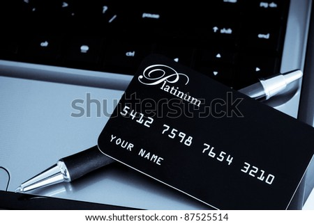 Credit Card Purchases - stock photo