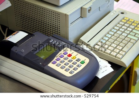 Credit Card register - stock photo