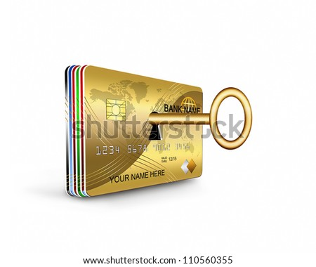 credit card security - stock photo