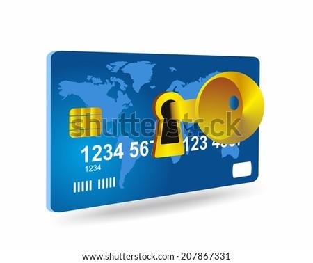 Credit card - security  - stock photo