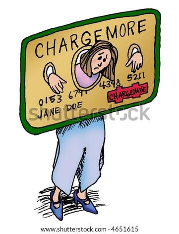 Credit card shackles - stock photo