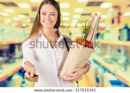 Credit Card Shopping. - stock photo