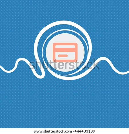credit card sign icon. Blue and white abstract background flecked with space for text and your design. illustration - stock photo