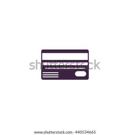 Credit card. Simple blue icon on white background - stock photo