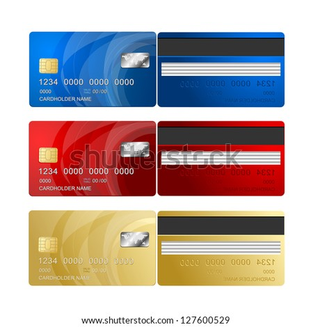 Credit Card two sides - stock photo