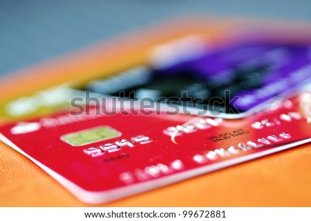 Credit card with great colors and light - stock photo