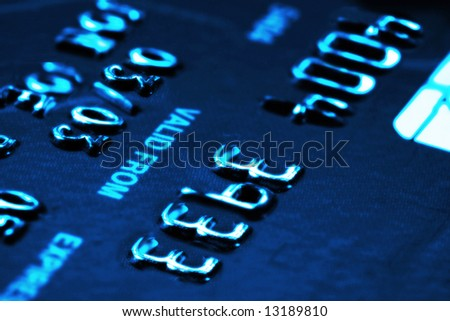 Credit card with shallow DOF - stock photo