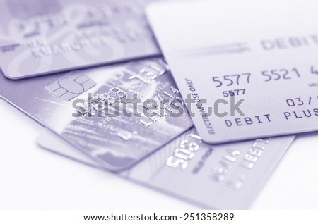 Credit cards background - stock photo