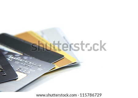 Credit cards closeup - stock photo