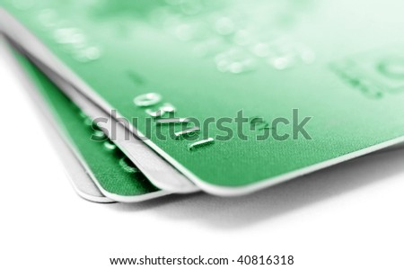 credit cards closeup - stock photo