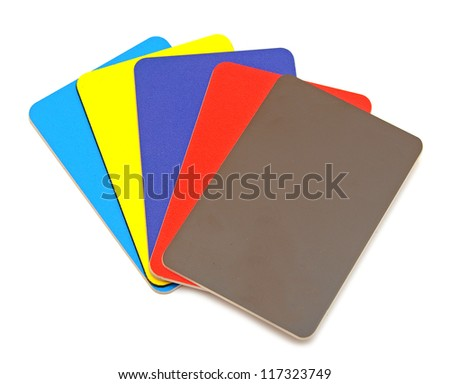 credit cards collection isolated on white - stock photo