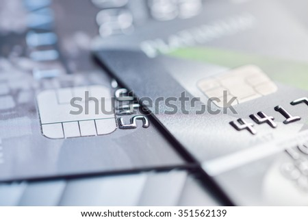credit cards macro shot