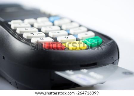 Credit & debit card password payment - stock photo