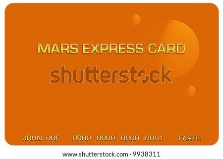 Credit or debit card for space travel - stock photo