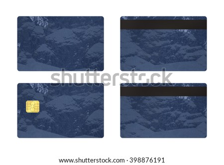 Credit or debit card template with isolated background, To apply any concept for business transaction , gift card, vip and discount card illustration. - stock photo