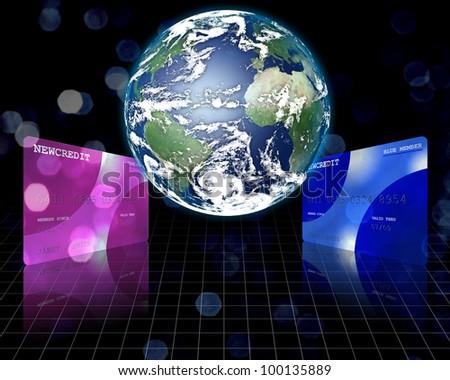 Credit Planet - stock photo
