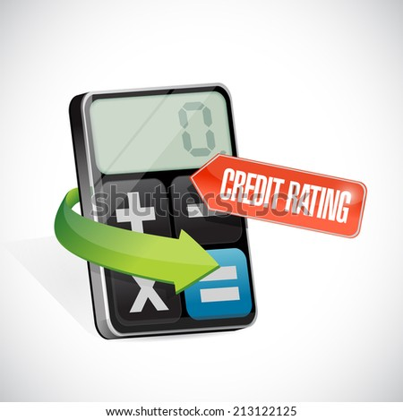 credit rating message illustration design over a white background - stock photo