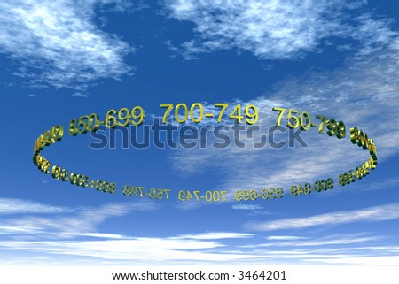 Credit rating numbers in the sky - stock photo
