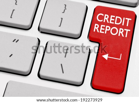 Credit report - stock photo