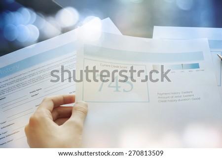 Credit report concept - stock photo