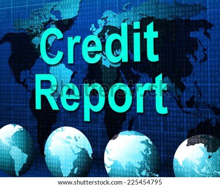 Credit Report Showing Loan Debit And Owed