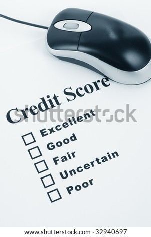 Credit Score, Business Concept for Background - stock photo