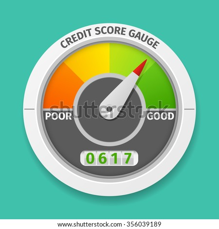 Credit score rating - stock photo