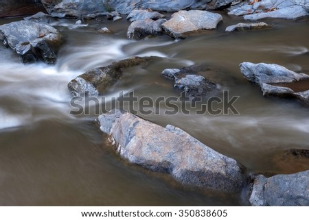 creek flowing over the rocks
