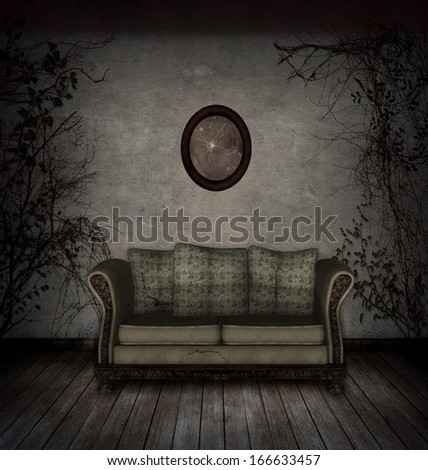 Creepy Room Stock Illustration 166633457