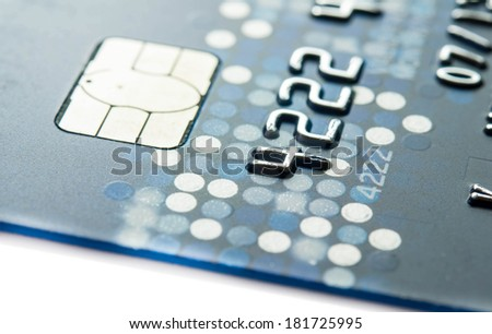 Creit card for background. - stock photo