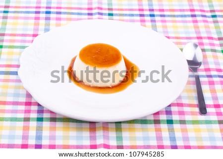 creme caramel - stock photo