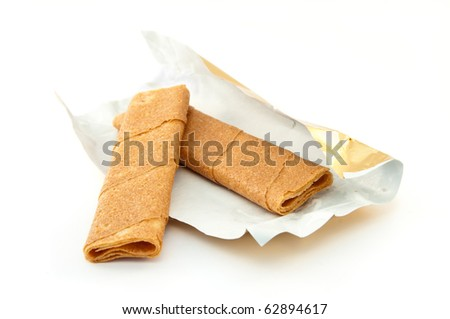 Crepes dentelle or Lace crepes are a specialty from Bretagne (Brittany) in France