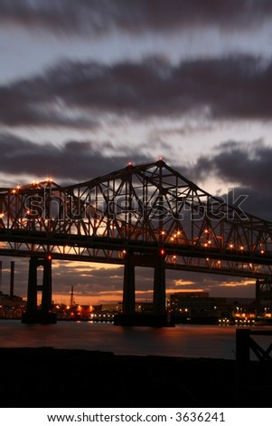 Crescent city connection in New Orleans - stock photo