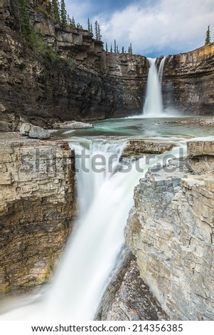 Crescent Falls in banff alberta canada  - stock photo
