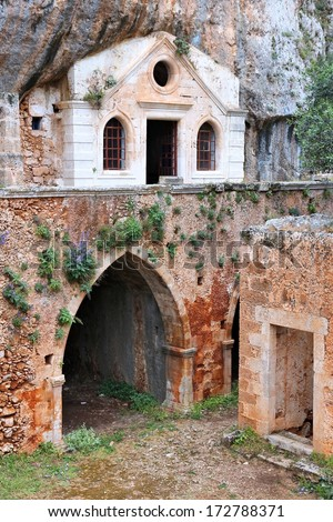Crete, Greece - abandoned Orthodox monastery of Kathalikos
