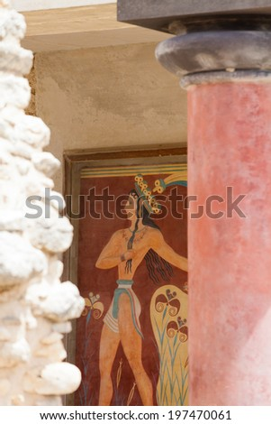 Crete - Greece - Art of Knossos - stock photo