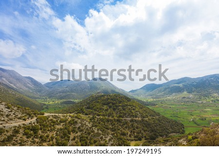 Crete - Greece - Askifou plateau - stock photo