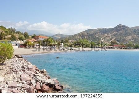 Crete - Greece - Beach of Agia Galini - stock photo
