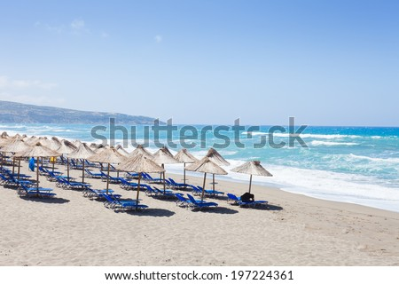 Crete - Greece - Beach of Kalamaki - stock photo