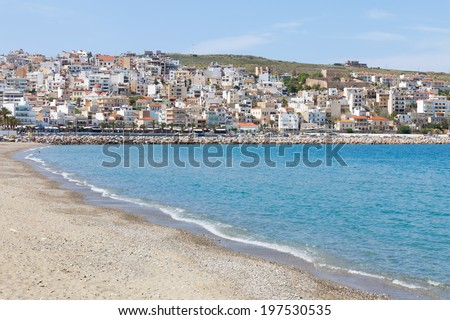 Crete - Greece - Beach of Sitia - stock photo