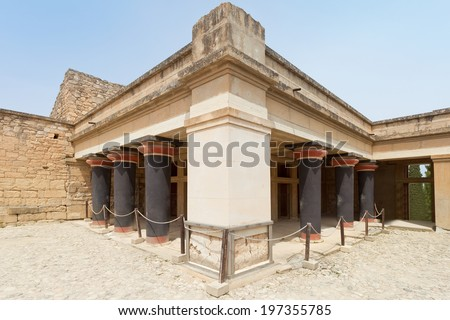 Crete - Greece - Kings Palace of Knossos - stock photo