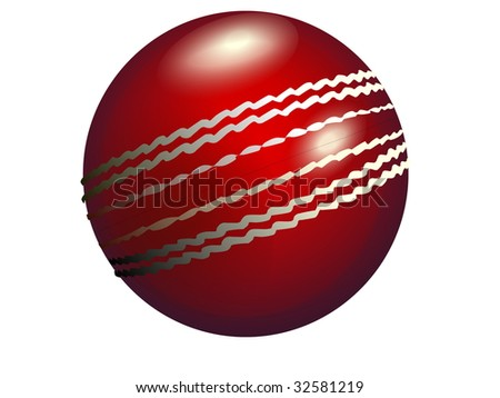 Cricket ball jpeg cut-out.